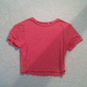 PacSun Red Tight Fitted Crop Top